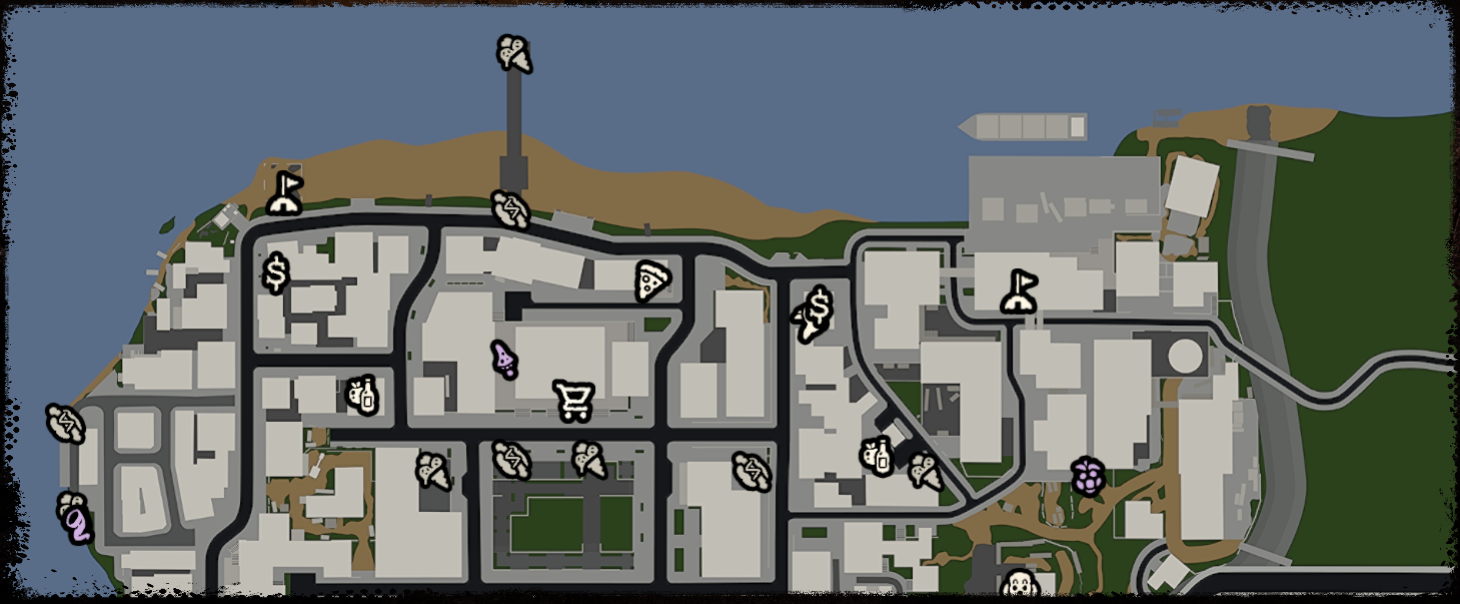 Bum Simulator - Base Location in Full Map Guide - Map - CA1367B