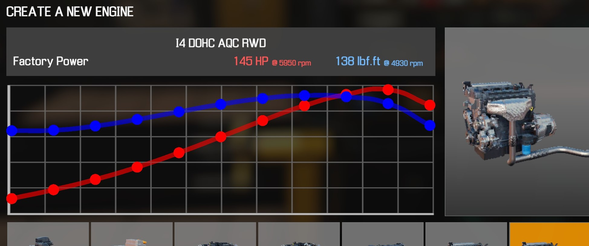 Car Mechanic Simulator 2021 - How to Buy Engine Parts and All Engines in Game Information - I4 DOHC AQC RWD - 118AD48