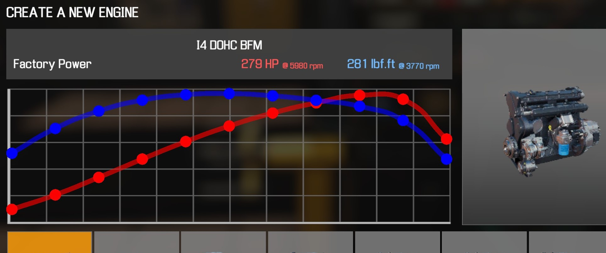 Car Mechanic Simulator 2021 - How to Buy Engine Parts and All Engines in Game Information - I4 DOHC BFM - E7FB108