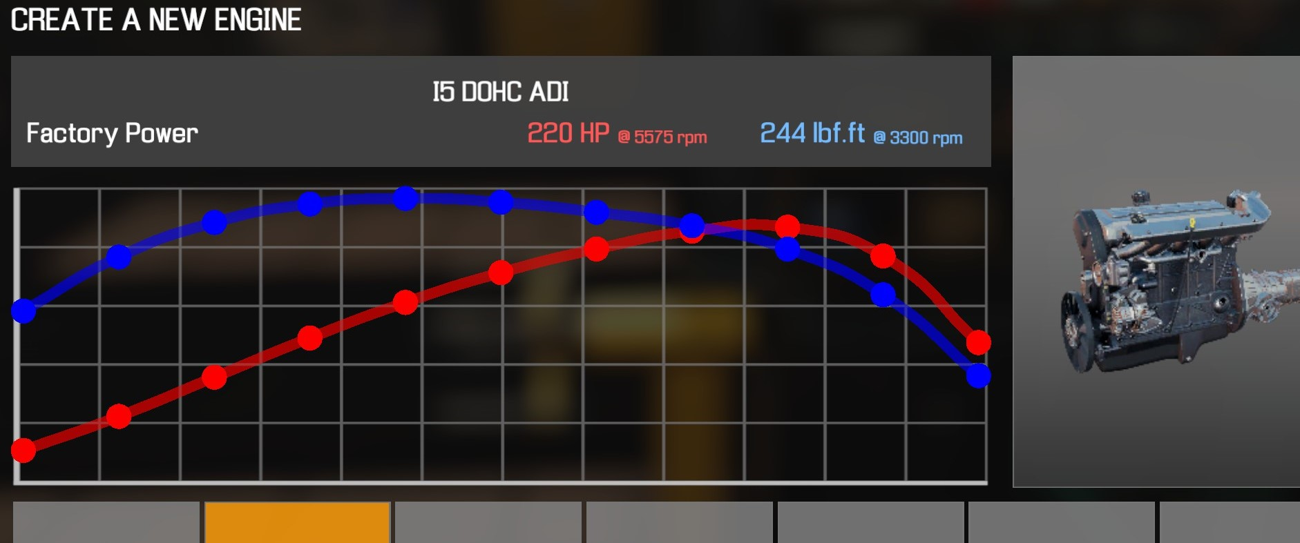 Car Mechanic Simulator 2021 - How to Buy Engine Parts and All Engines in Game Information - I5 DOHC ADI - 12321BF