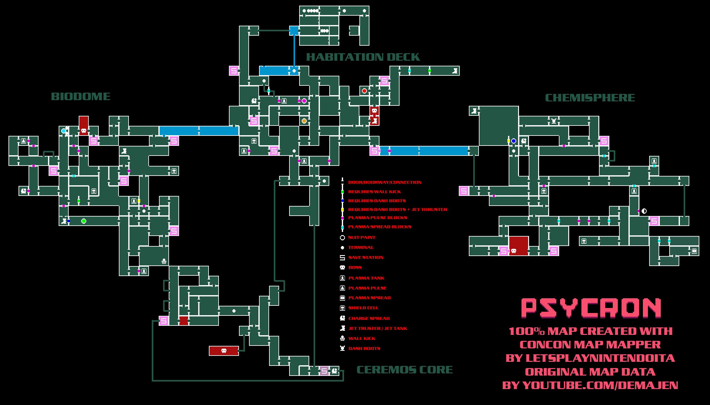 PSYCRON - Full Map Information + Detailed Guide - 100% Map - 64D9556