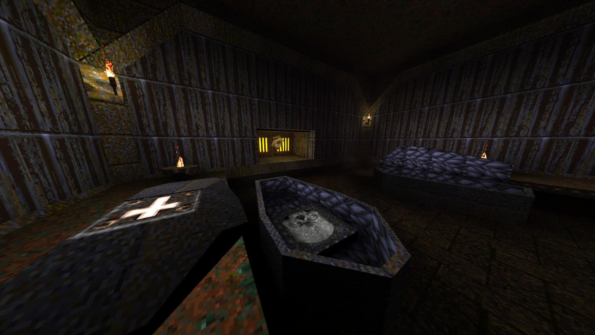 Quake - Locations of All Secrets in Game Tips - E2: Dominion of Darkness - Part II - 1F3EB3A