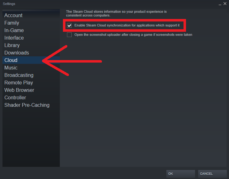 Steam - How to Permanently turn off Steam Cloud for all Games - How to Permanently turn off Steam Cloud for all Games. - 5FFEA62
