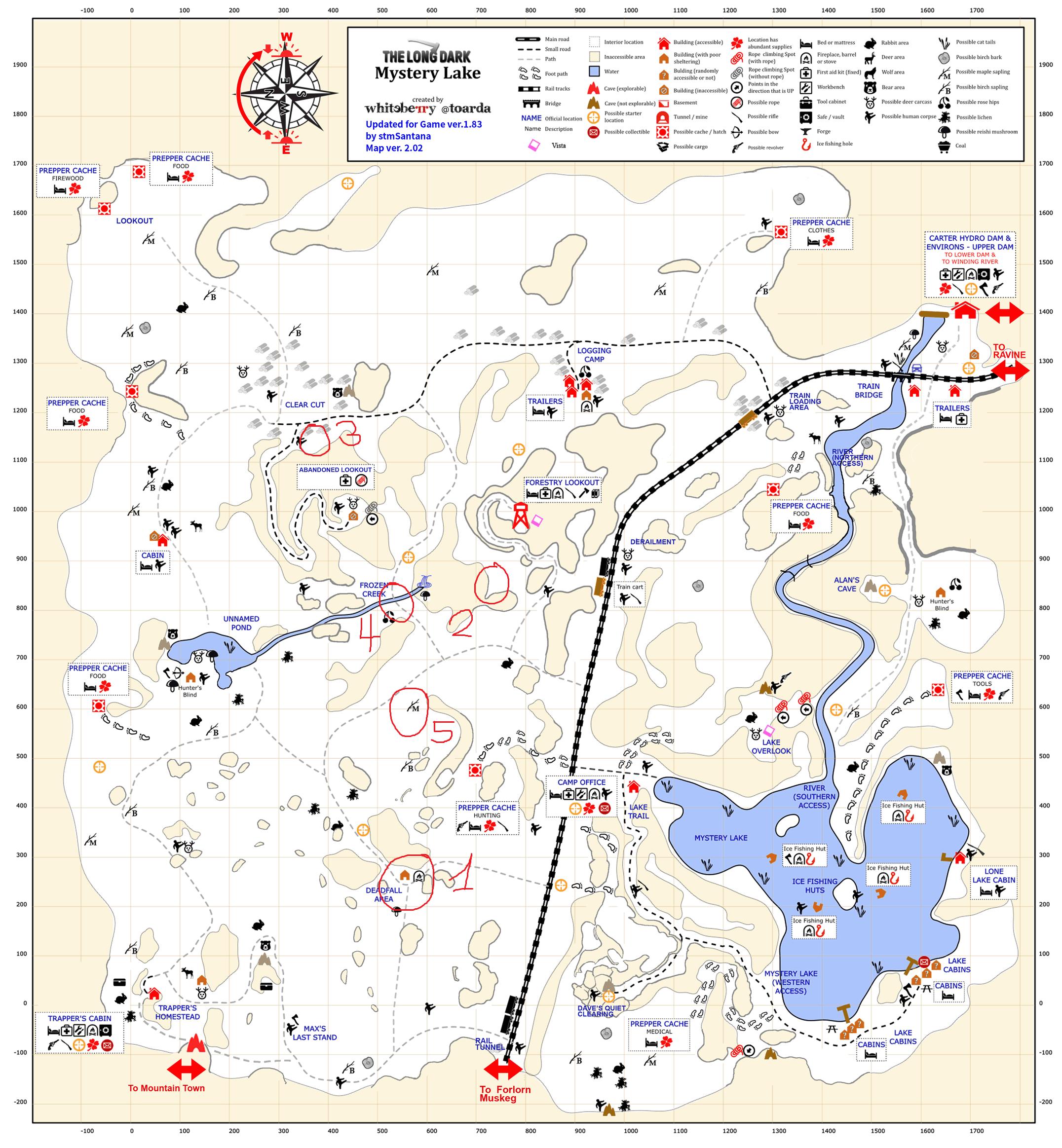 The Long Dark - Advanced rock cache placing + Top 5 caches per region - 10-Mistery Lake - 9B853B2
