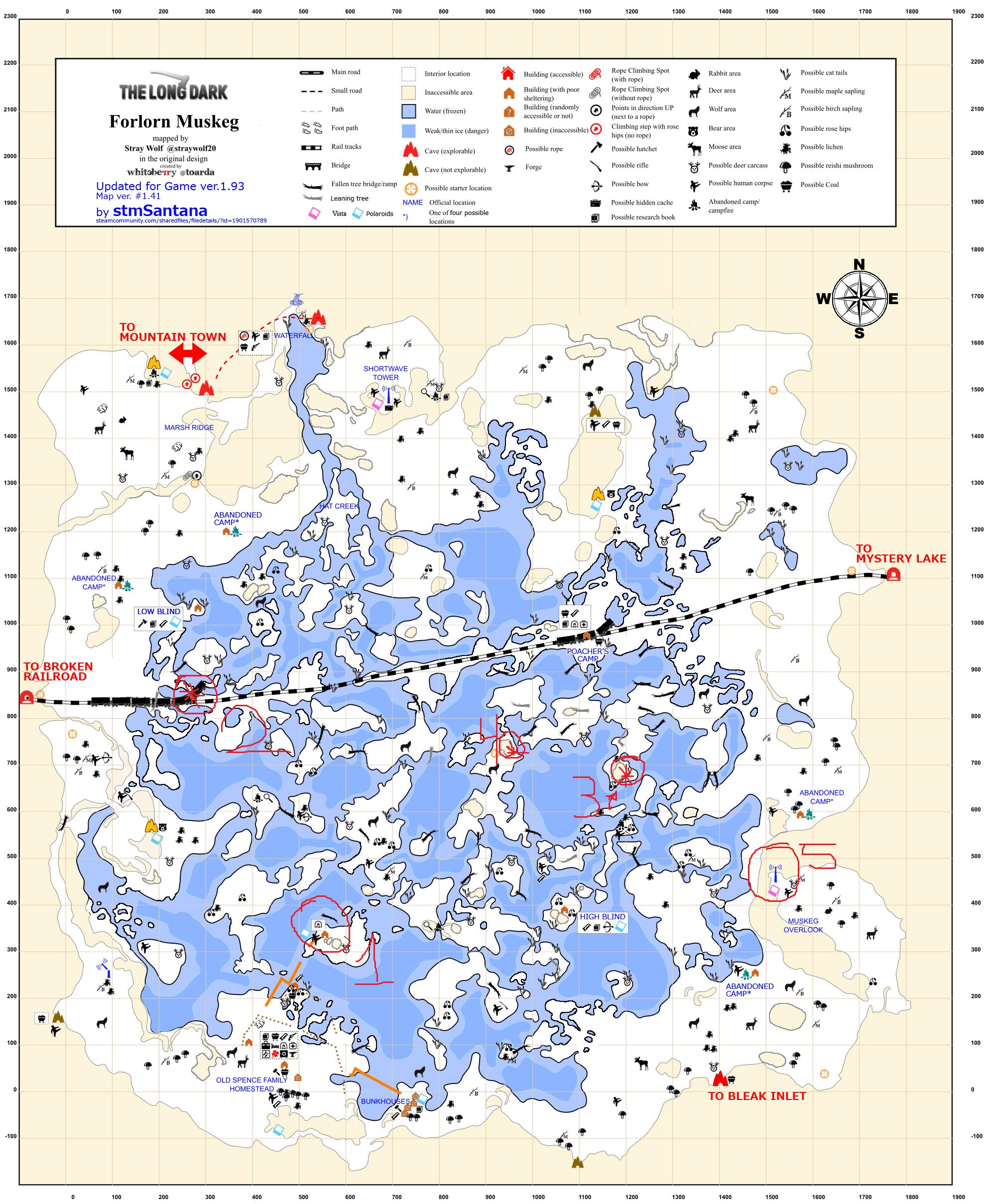 The Long Dark - Advanced rock cache placing + Top 5 caches per region - 8-Forlon Muskeg - DC15CD5