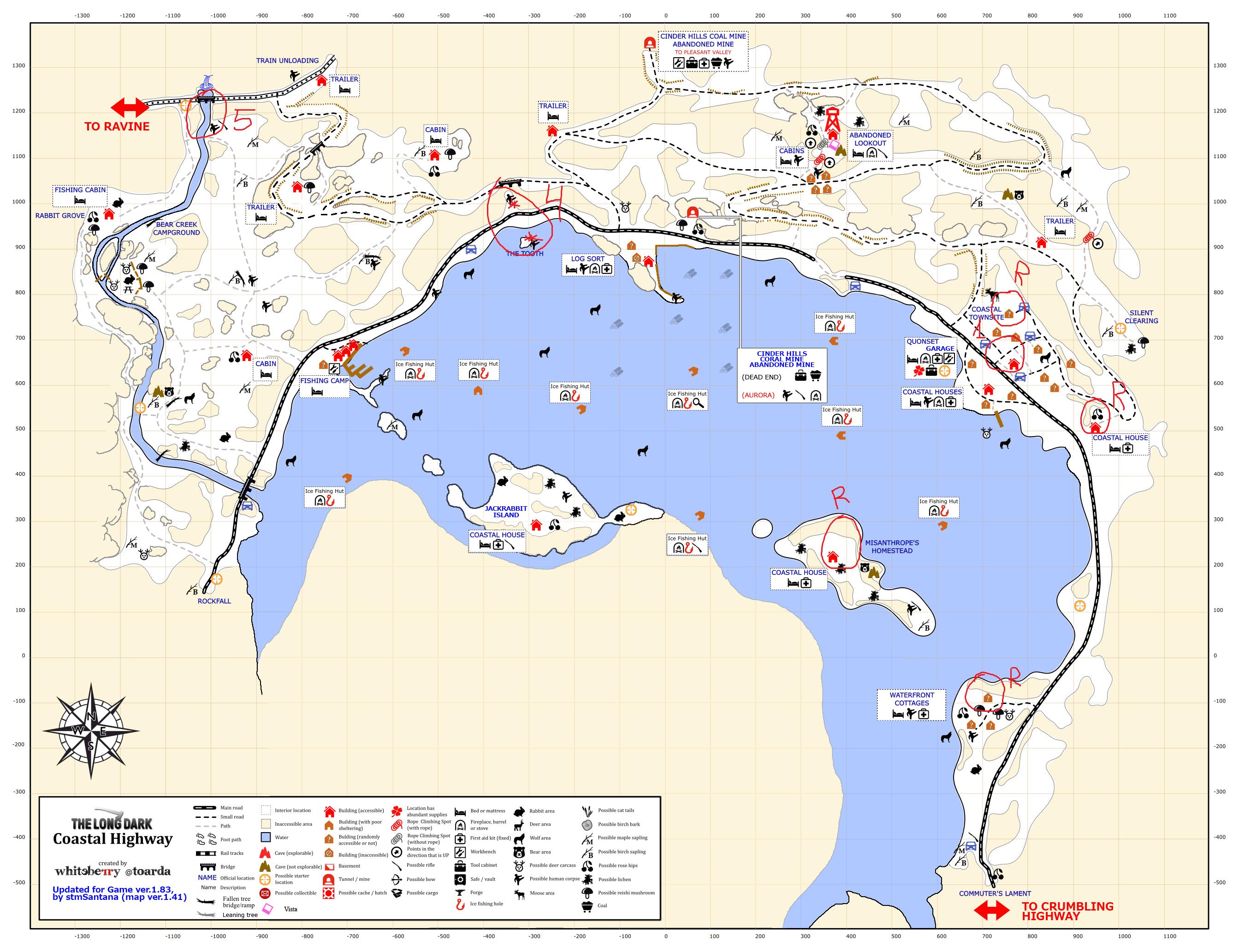 The Long Dark - Advanced rock cache placing + Top 5 caches per region - 9- Coastal Highway - F9BDC23