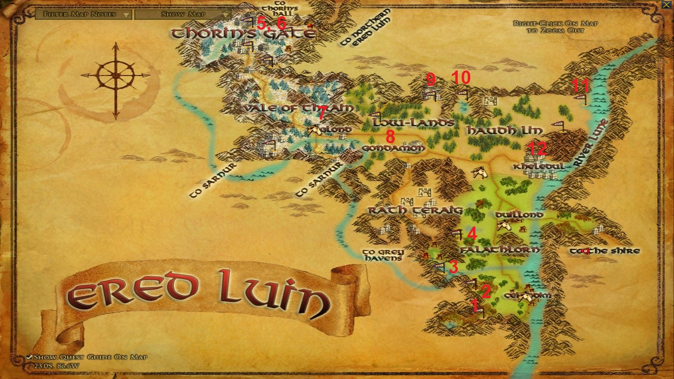 The Lord of the Rings Online™ - Condensed LOTRO Point Farm Guide - Part 2 - Ered Luin Part 1 - BD08786