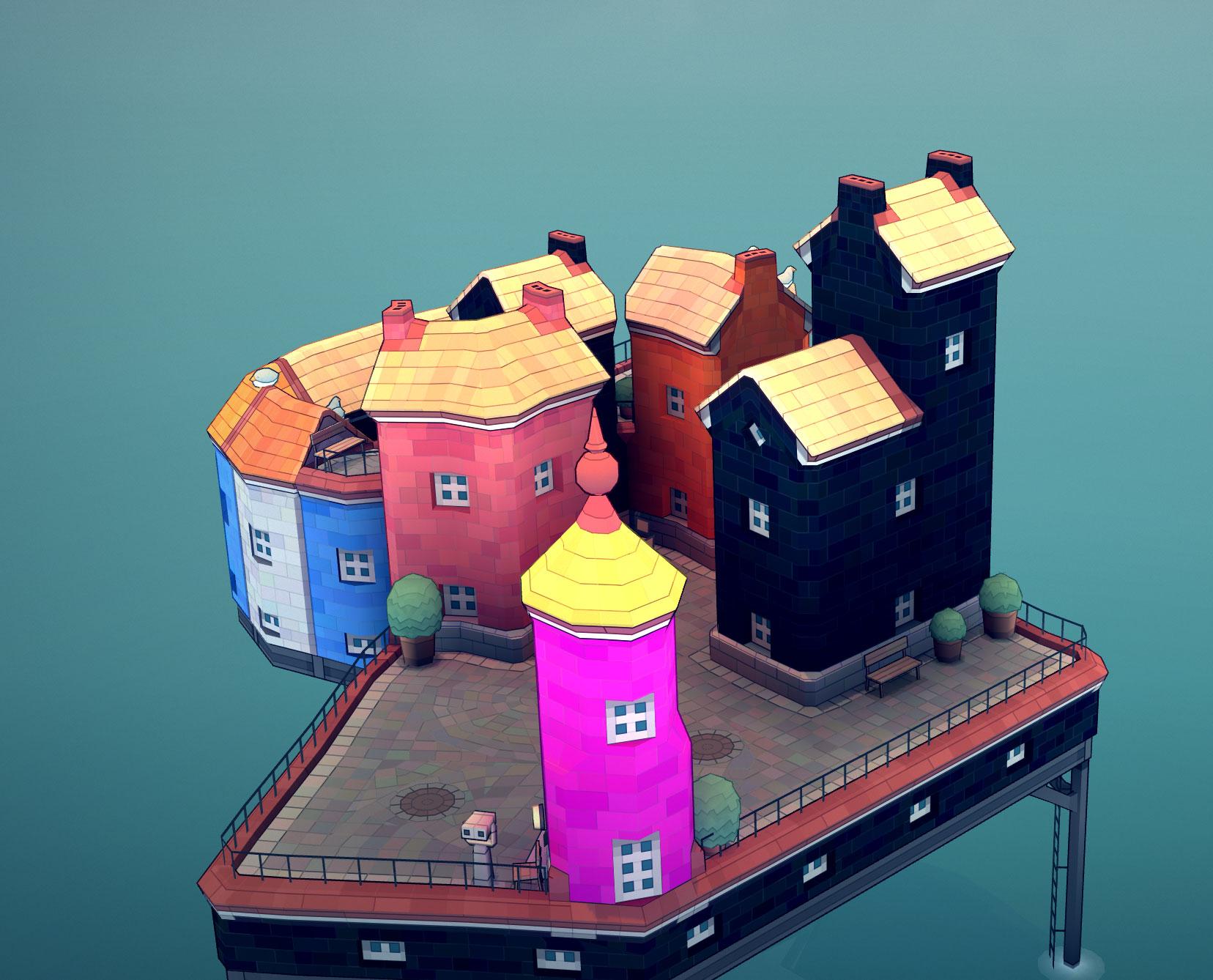 Townscaper - How to Change Building Color/Colour Palette - The Palette - F191A10