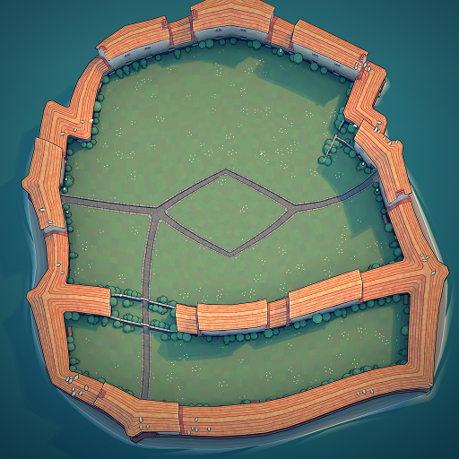 Townscaper - Steps How to Get Hexagram Wall in Garden Guide - Optional: give me open area - 7442344