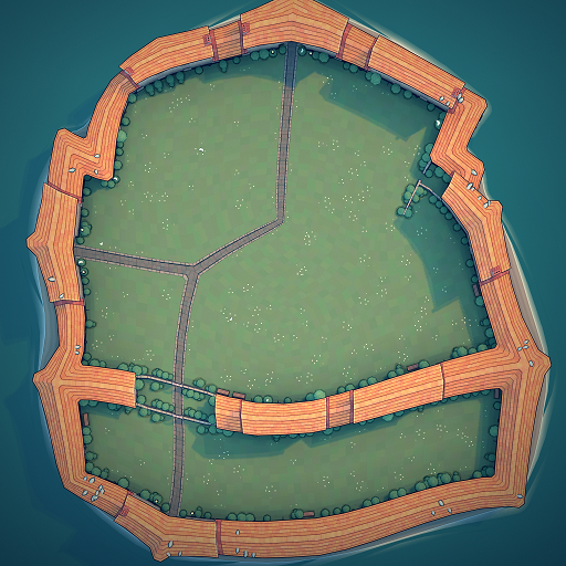 Townscaper - Steps How to Get Hexagram Wall in Garden Guide - Optional: give me open area - 898568E