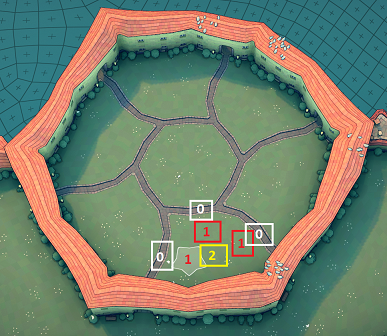 Townscaper - Steps How to Get Hexagram Wall in Garden Guide - Step 3: trigger the wall - 4420F7F