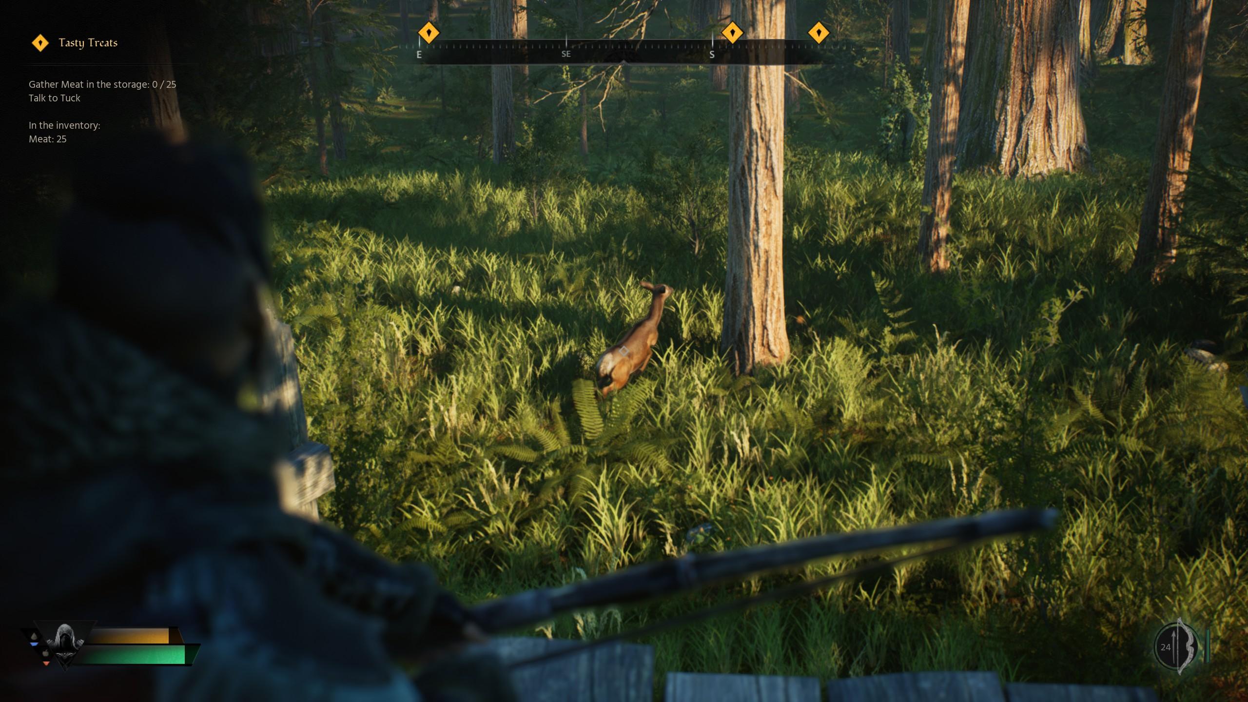 Robin Hood - Sherwood Builders Playtest - Tips on How to Hunt Deer for Meat in Game - Huntspot - Chaffinch's Nest - 5DF2577
