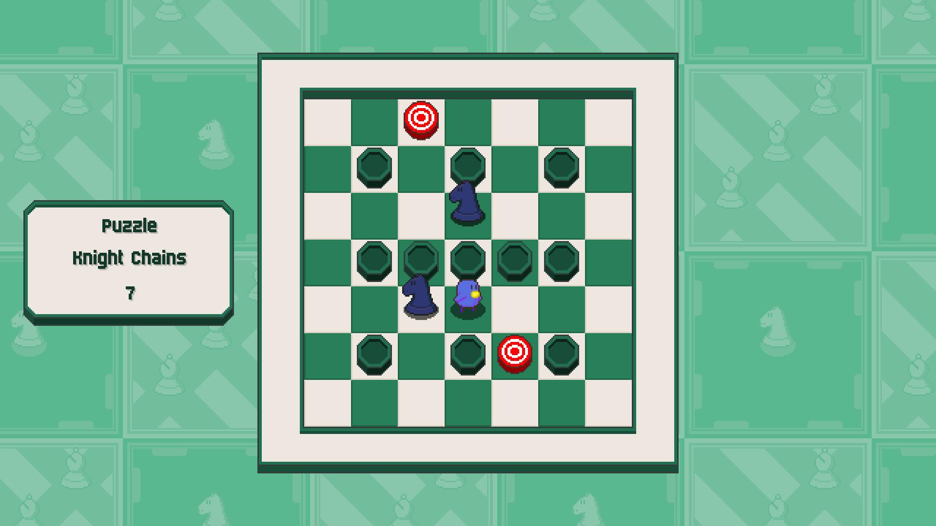 Chessplosion - Puzzle Solution Guide + Achievements Walkthrough - Advanced: Knight Chains - 30A19E5