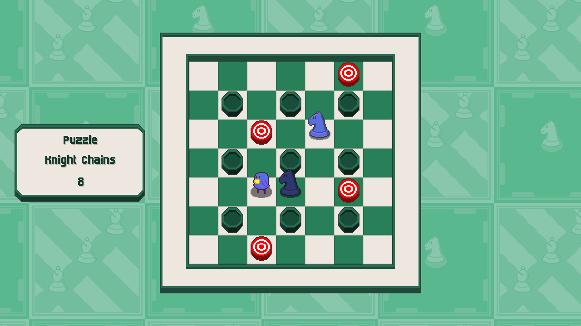 Chessplosion - Puzzle Solution Guide + Achievements Walkthrough - Advanced: Knight Chains - 63B30B3