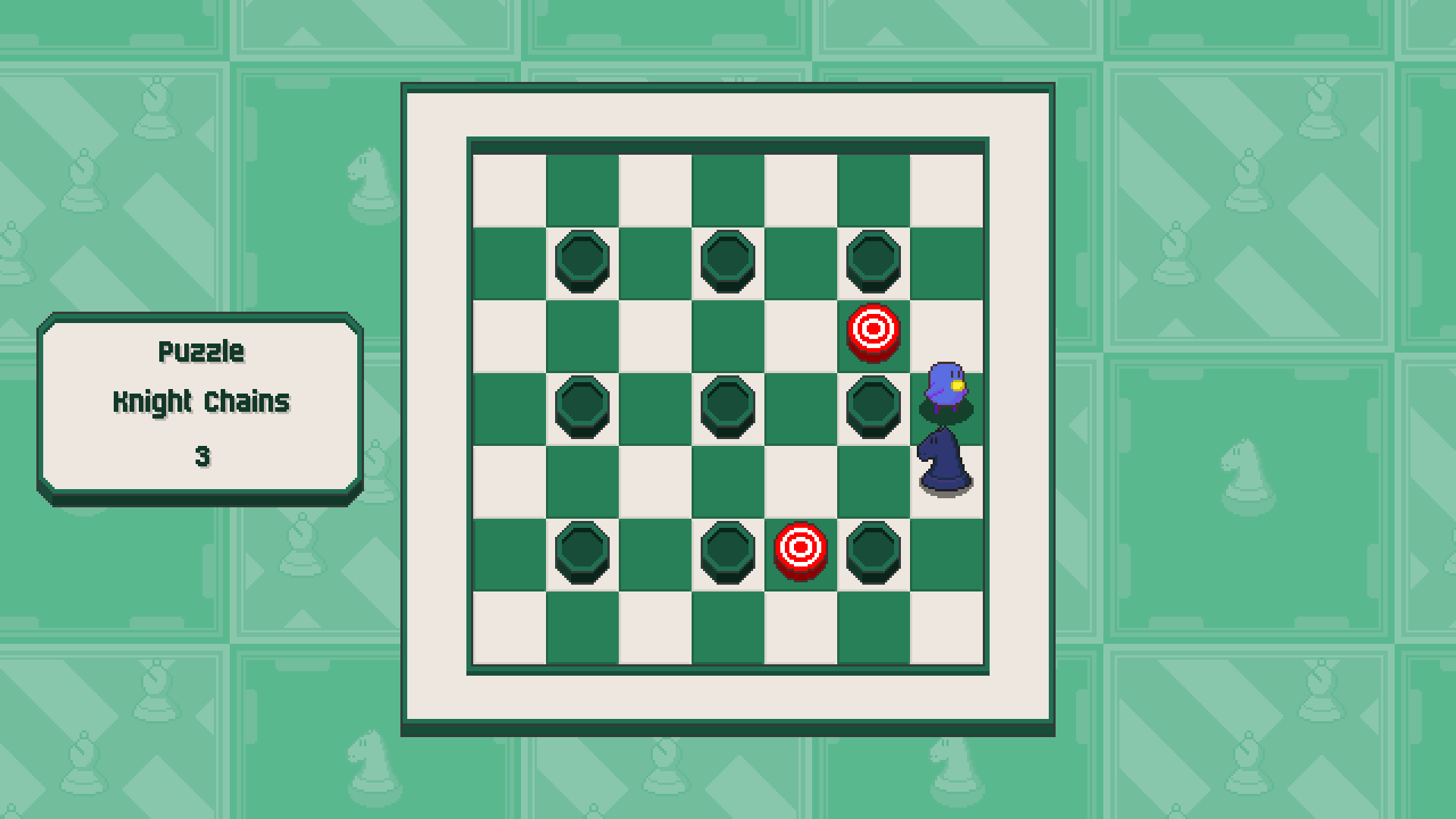 Chessplosion - Puzzle Solution Guide + Achievements Walkthrough - Advanced: Knight Chains - 6D63A0F