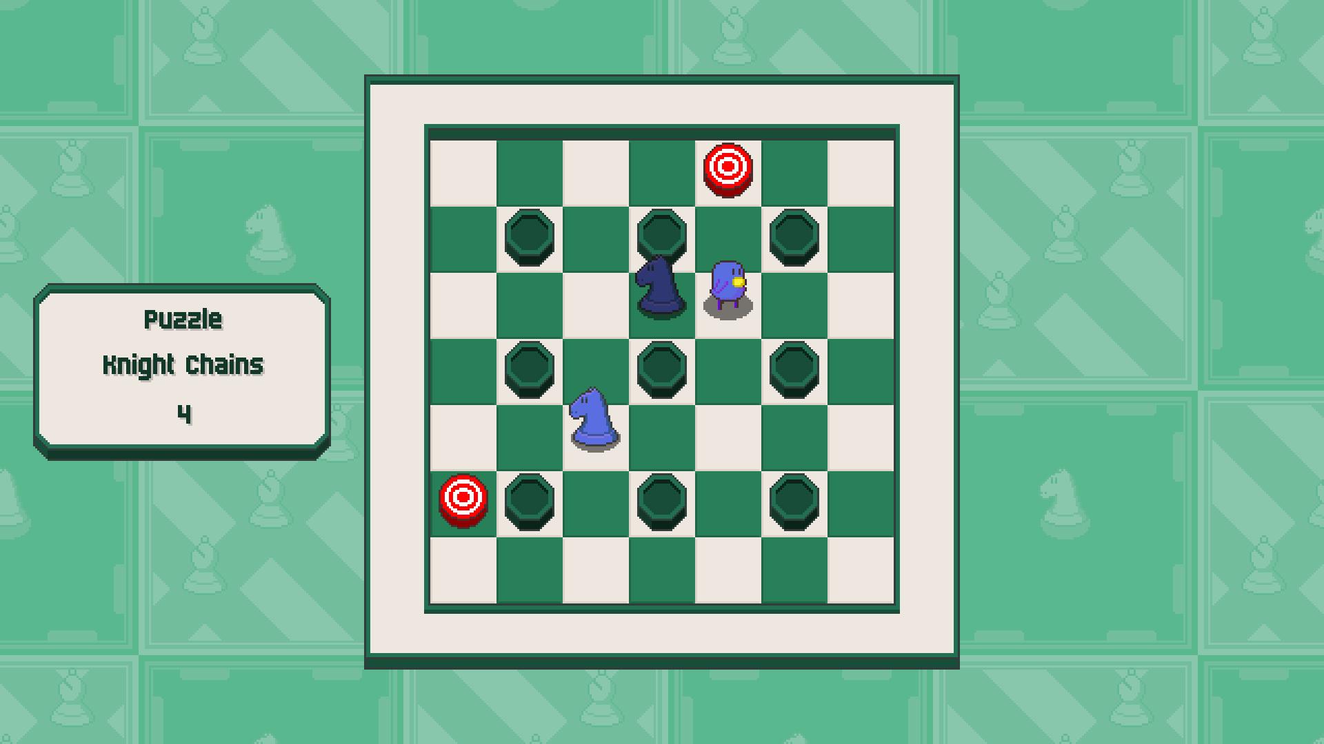 Chessplosion - Puzzle Solution Guide + Achievements Walkthrough - Advanced: Knight Chains - 9AC7E44
