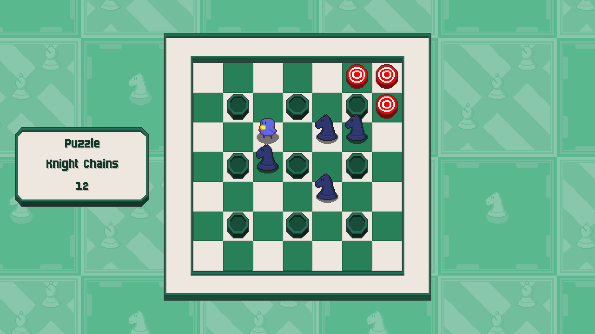 Chessplosion - Puzzle Solution Guide + Achievements Walkthrough - Advanced: Knight Chains - DC8CA6B