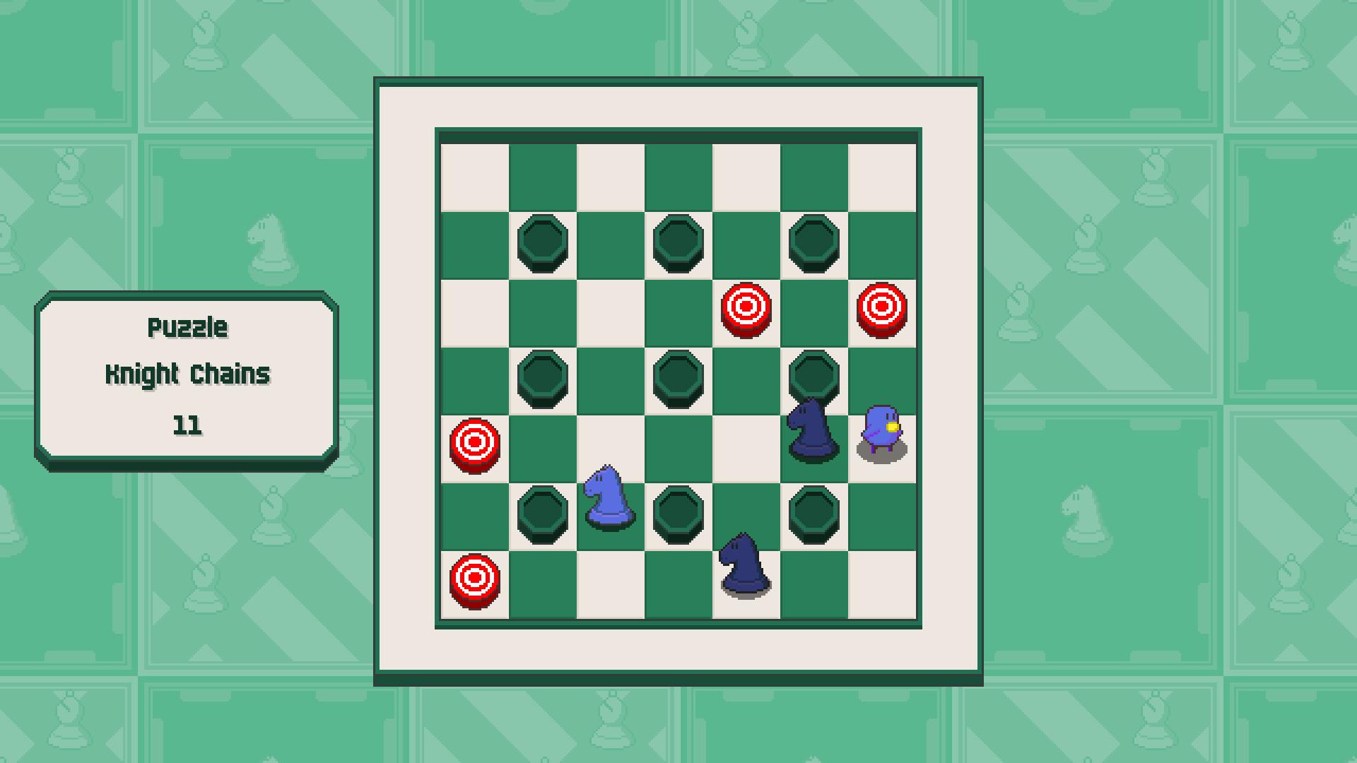 Chessplosion - Puzzle Solution Guide + Achievements Walkthrough - Advanced: Knight Chains - E6D0BB4