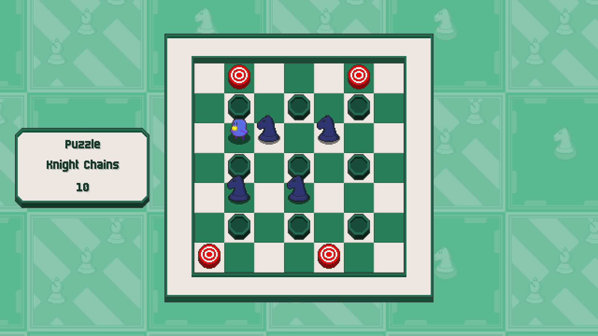 Chessplosion - Puzzle Solution Guide + Achievements Walkthrough - Advanced: Knight Chains - FE2DD79