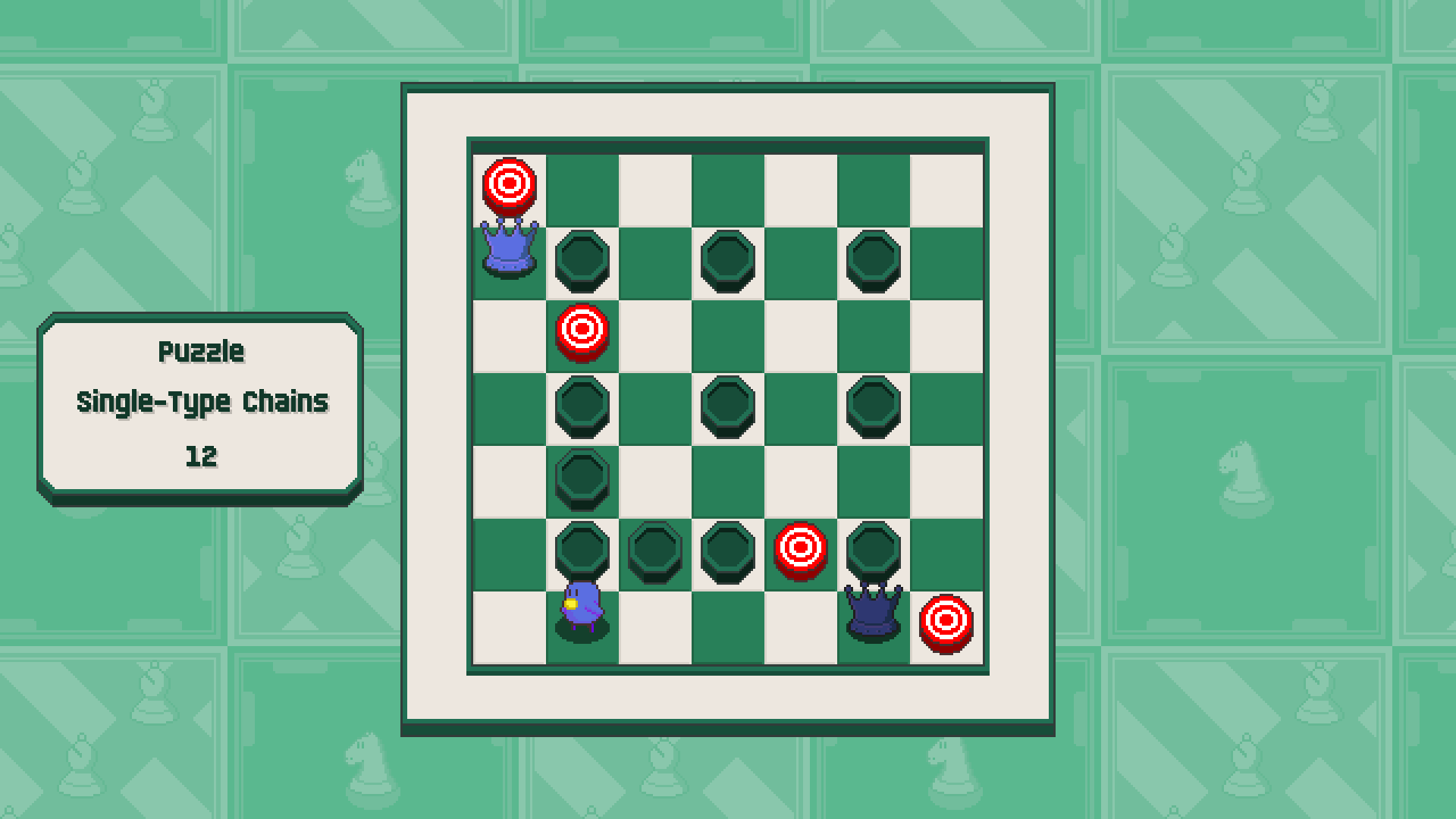 Chessplosion - Puzzle Solution Guide + Achievements Walkthrough - Advanced: Single-Type Chains - 1216FF6