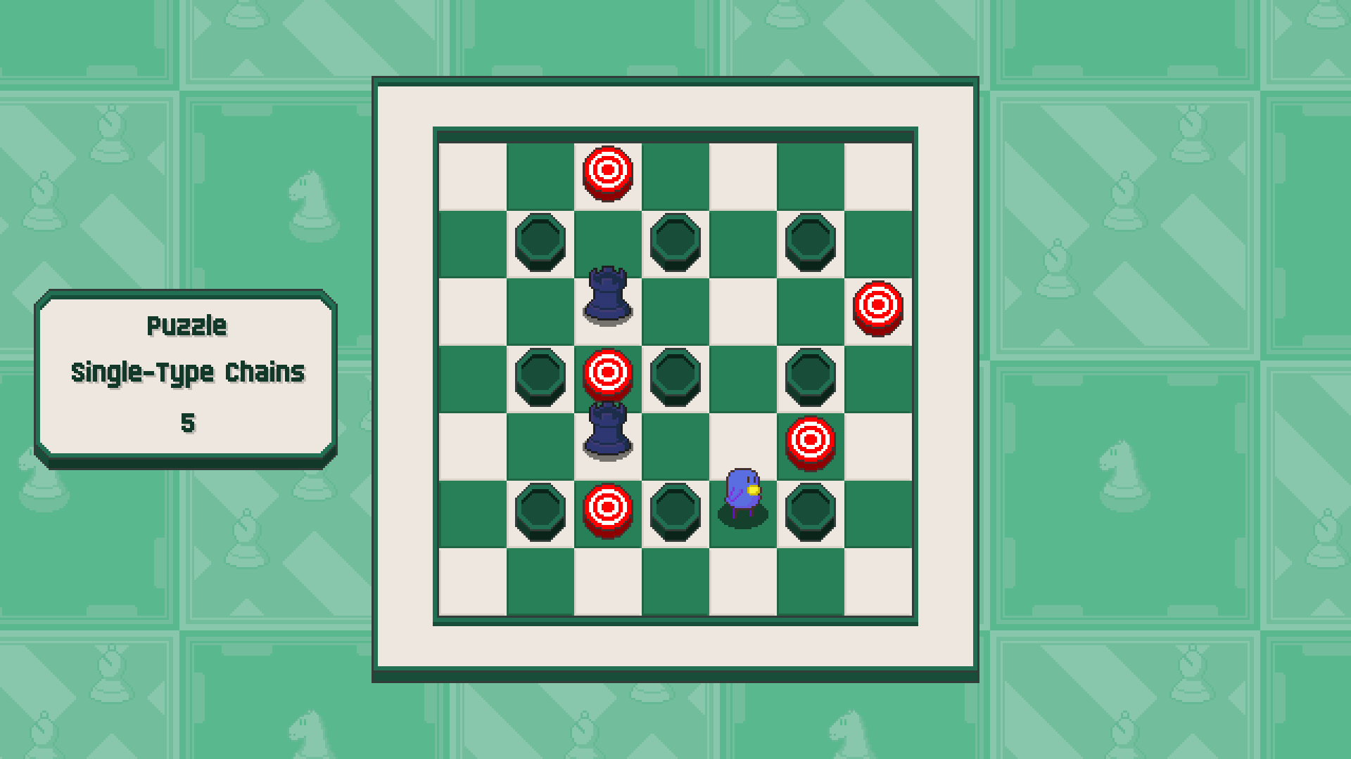 Chessplosion - Puzzle Solution Guide + Achievements Walkthrough - Advanced: Single-Type Chains - 607447F