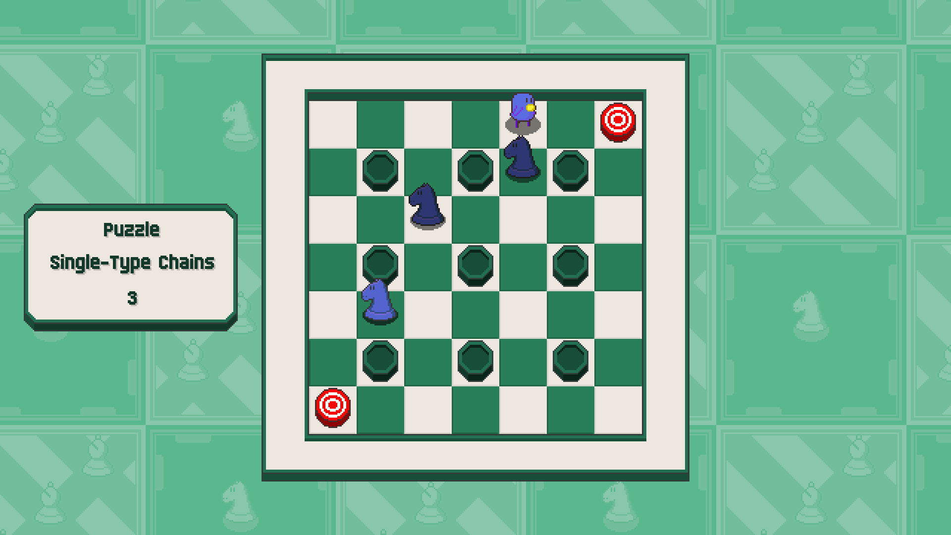Chessplosion - Puzzle Solution Guide + Achievements Walkthrough - Advanced: Single-Type Chains - EFE175E
