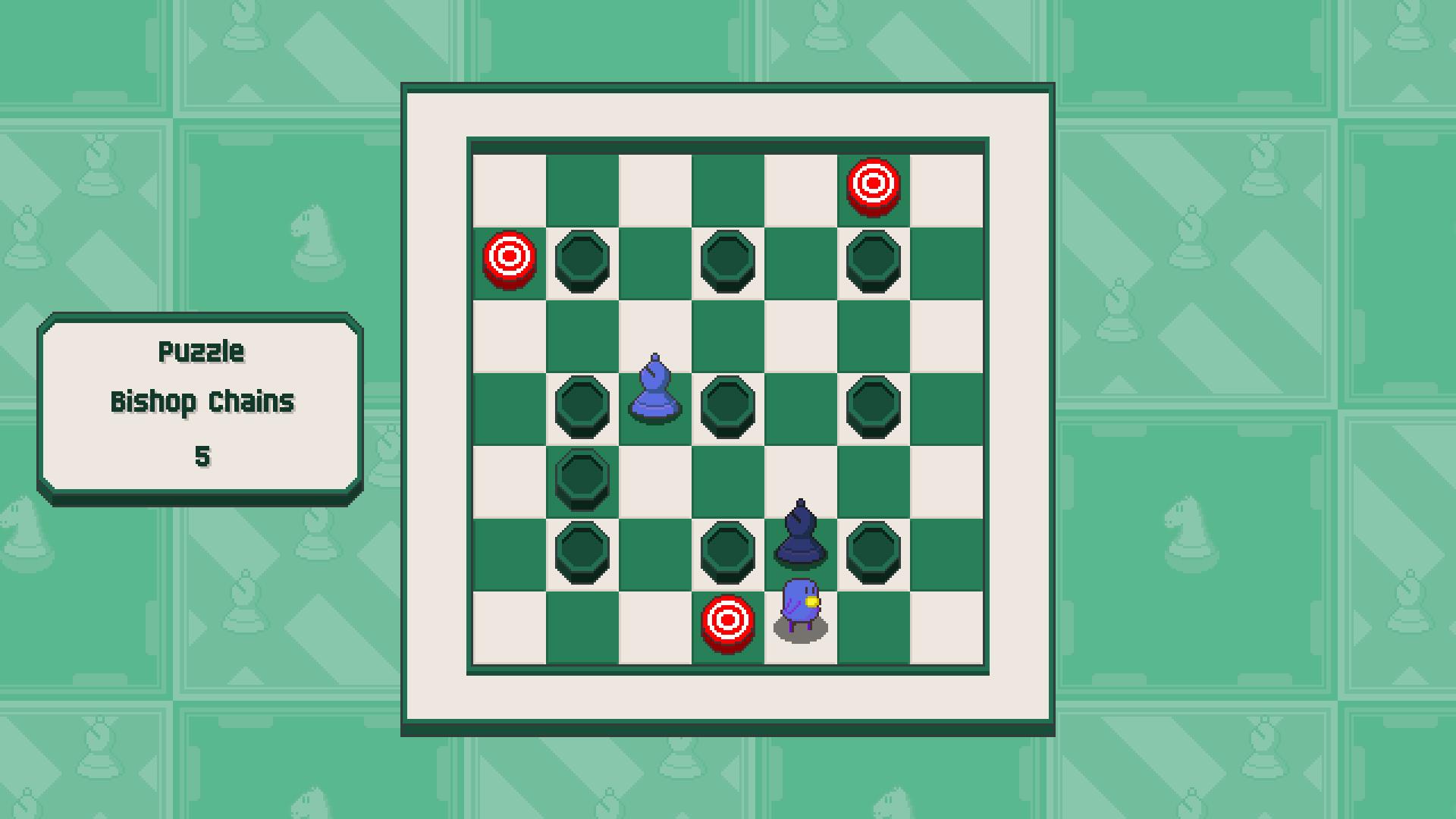 Chessplosion - Puzzle Solution Guide + Achievements Walkthrough - Beginner: Bishop Chains - 0BD1EEA