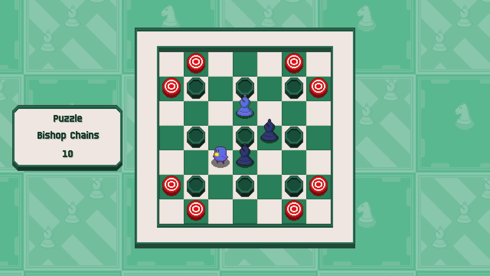 Chessplosion - Puzzle Solution Guide + Achievements Walkthrough - Beginner: Bishop Chains - 6C19CE1