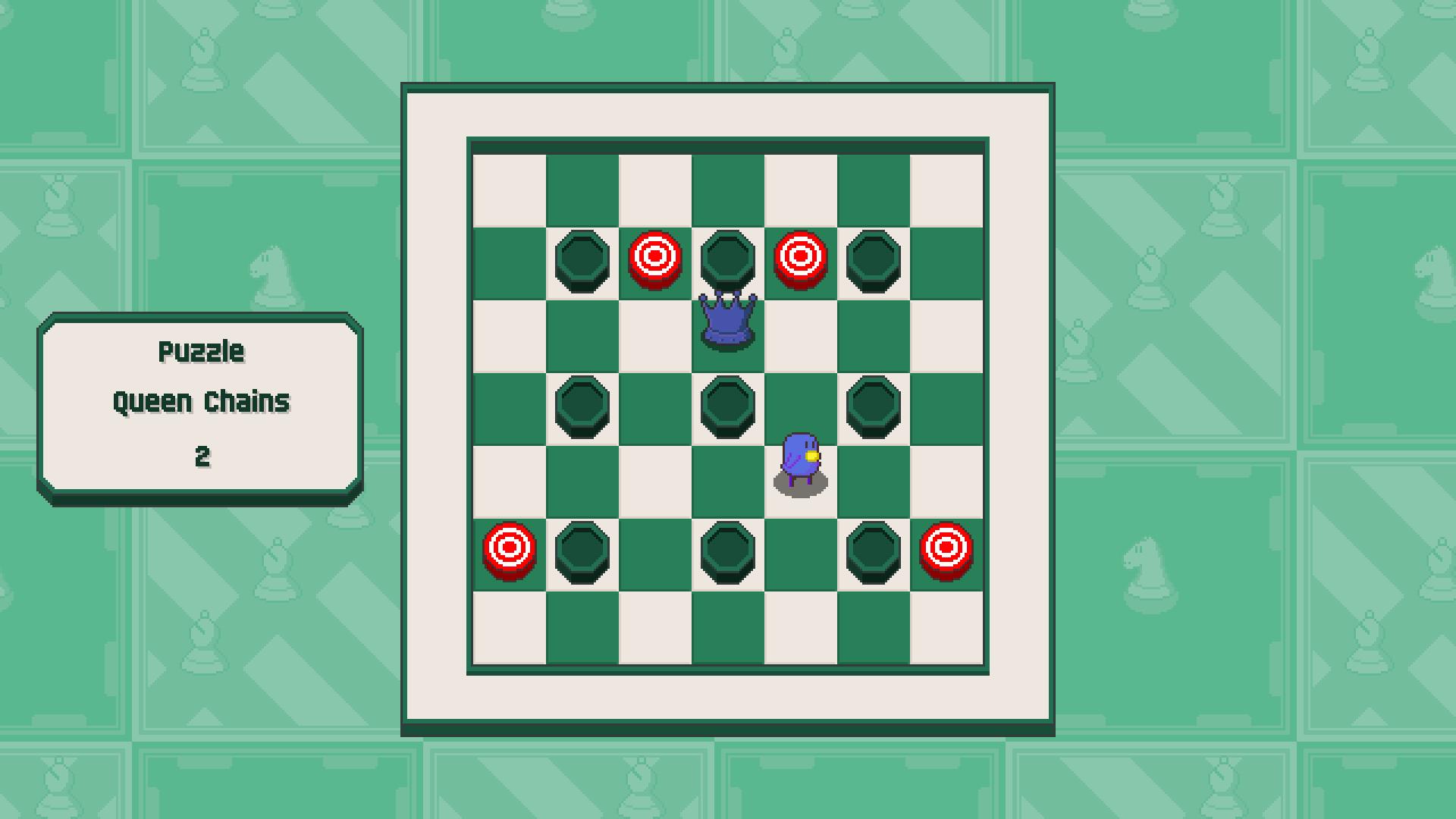 Chessplosion - Puzzle Solution Guide + Achievements Walkthrough - Beginner: Queen Chains - 66D83CA