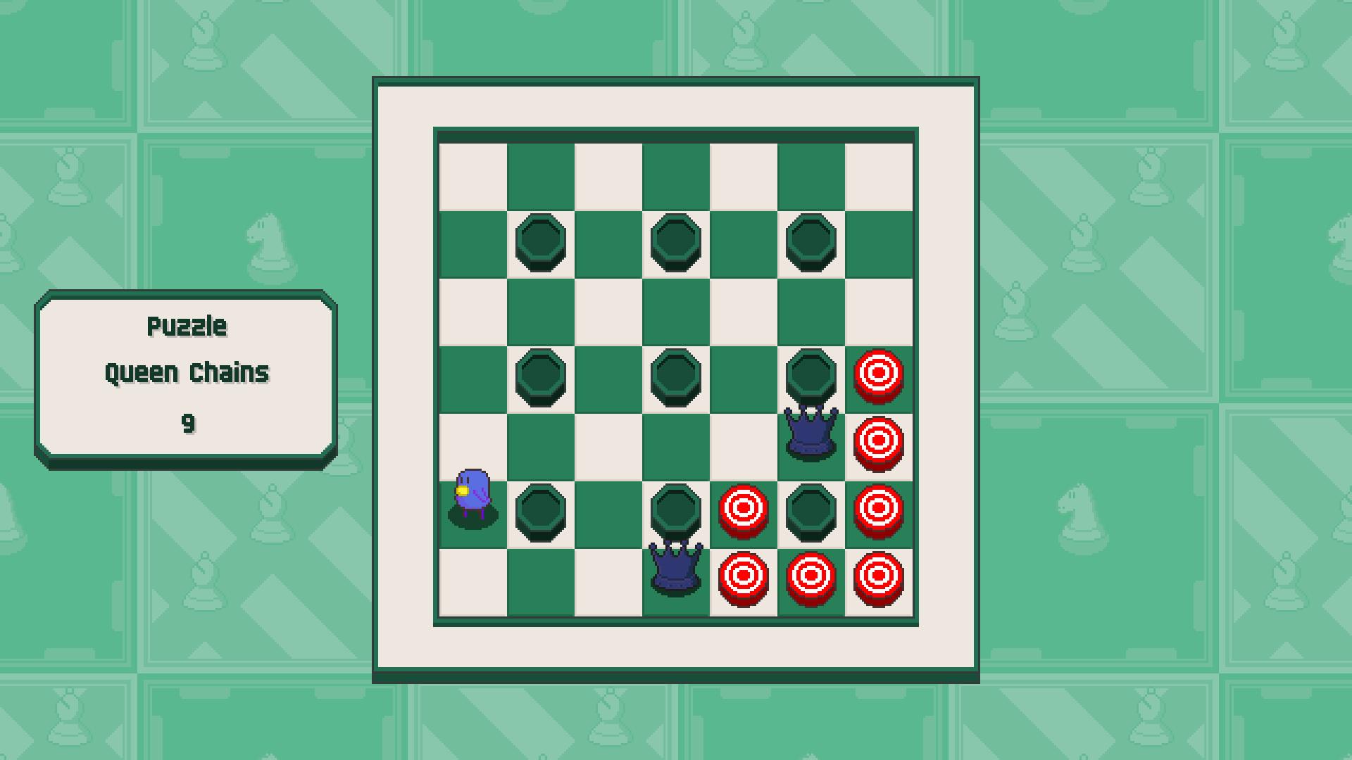 Chessplosion - Puzzle Solution Guide + Achievements Walkthrough - Beginner: Queen Chains - 7045A23