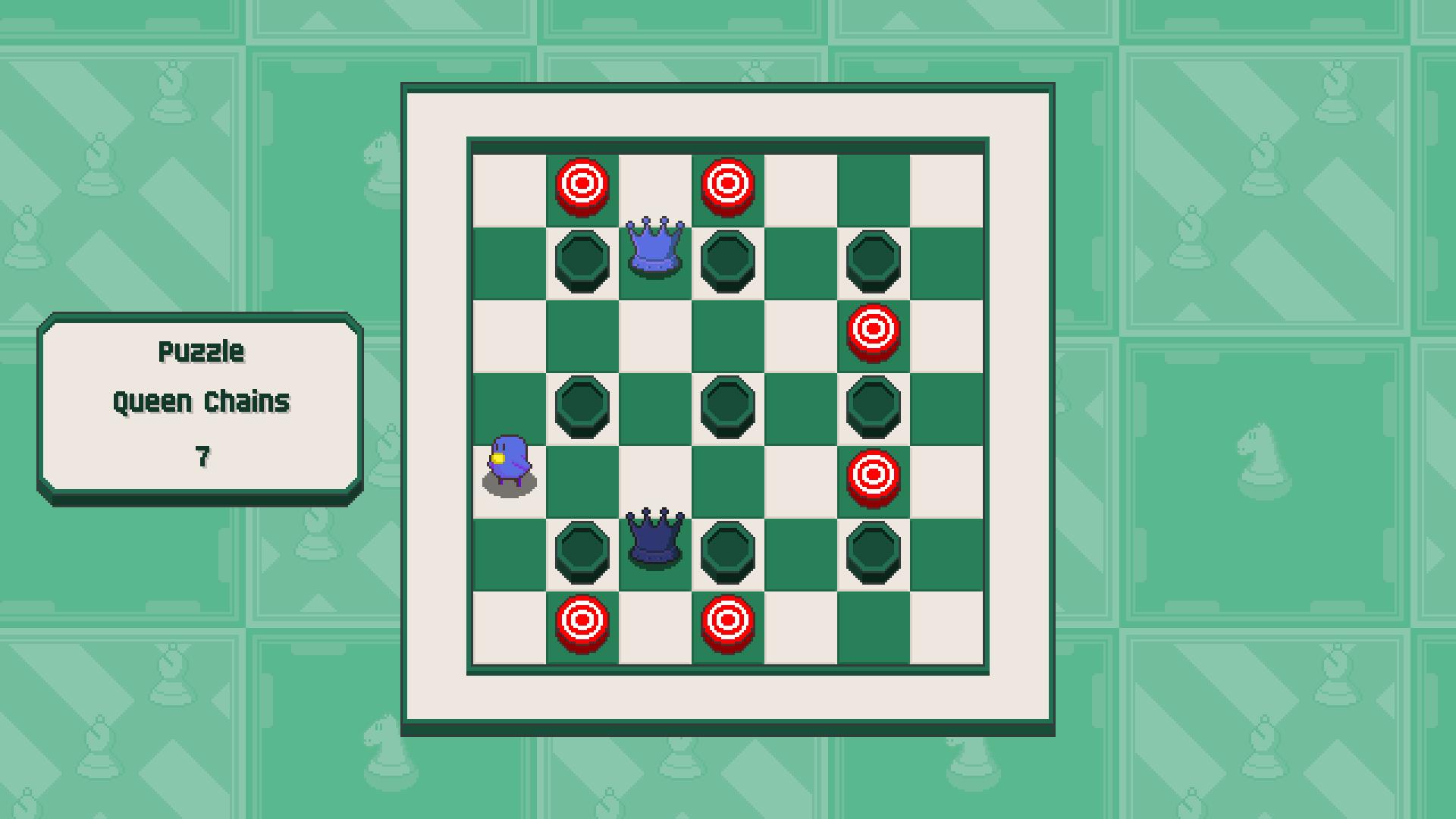 Chessplosion - Puzzle Solution Guide + Achievements Walkthrough - Beginner: Queen Chains - 8AD6FE6