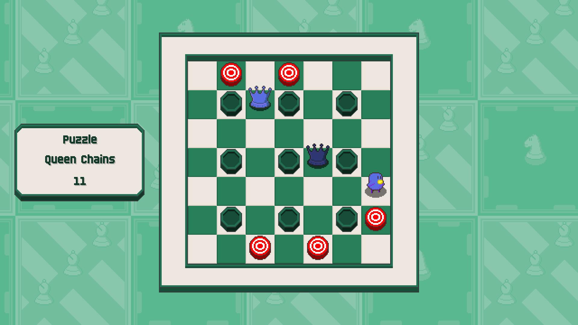 Chessplosion - Puzzle Solution Guide + Achievements Walkthrough - Beginner: Queen Chains - CF24141