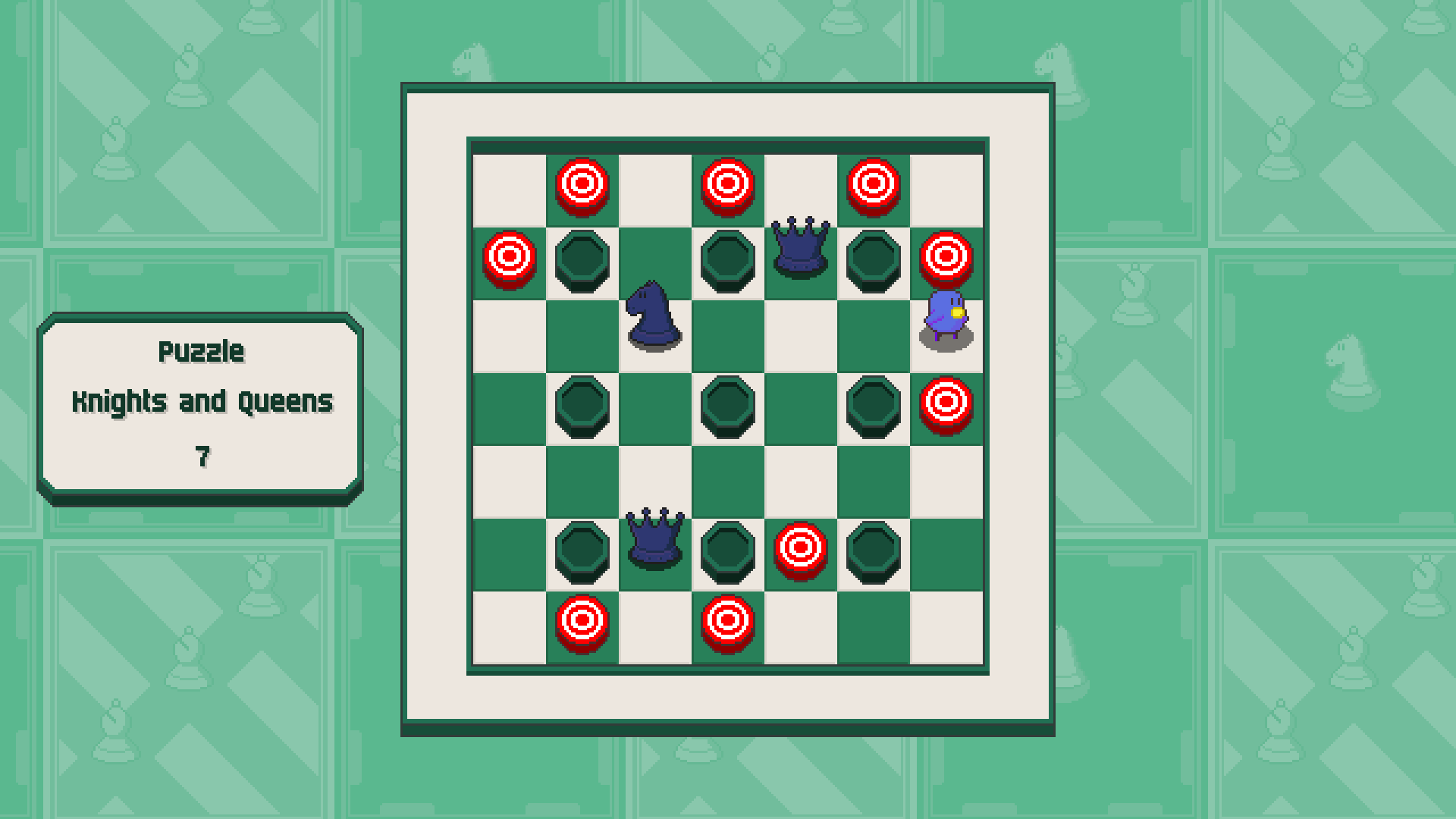 Chessplosion - Puzzle Solution Guide + Achievements Walkthrough - Grandblaster: Knights and Queens - 21D1F09