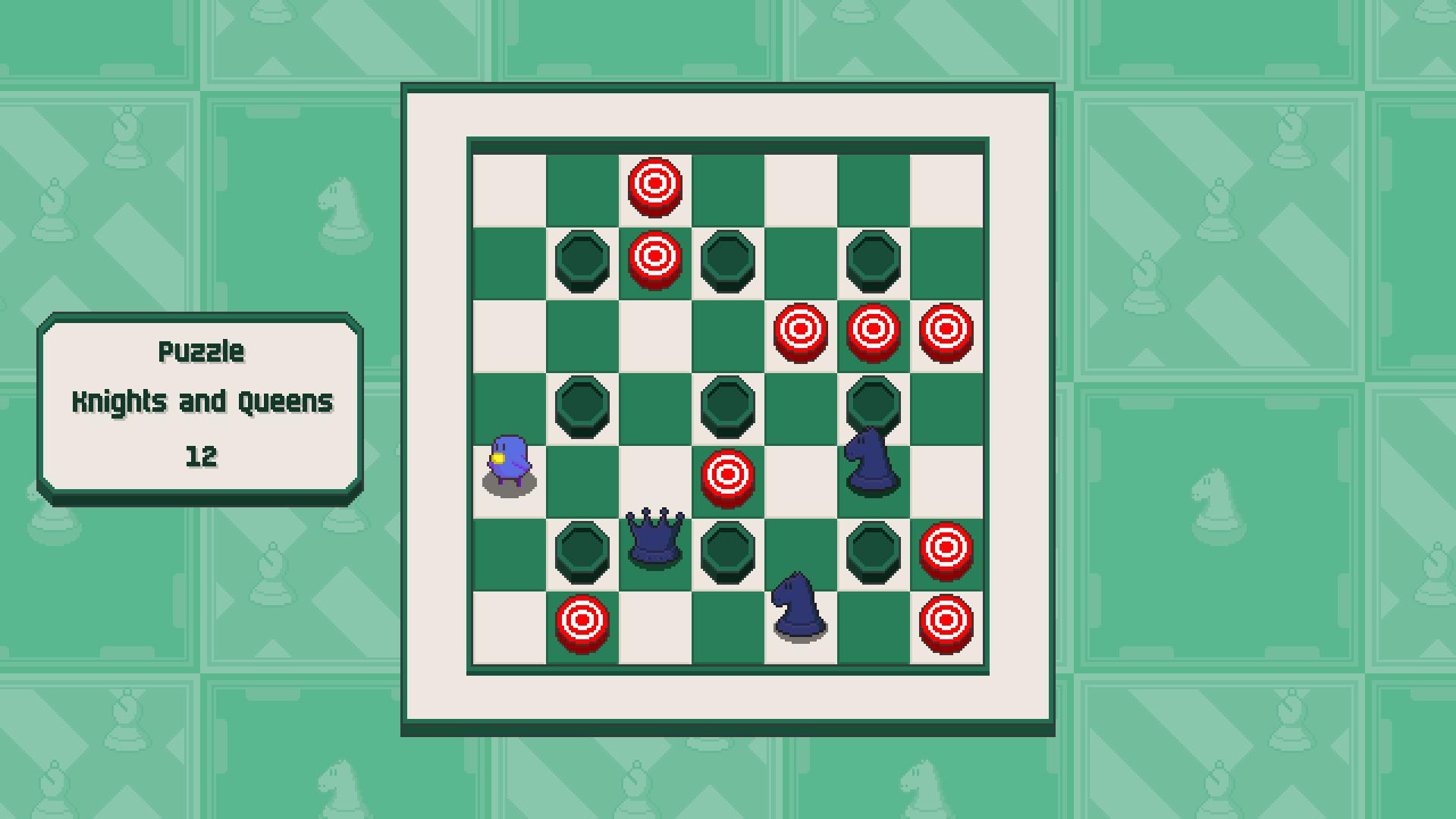 Chessplosion - Puzzle Solution Guide + Achievements Walkthrough - Grandblaster: Knights and Queens - FEFAA3B