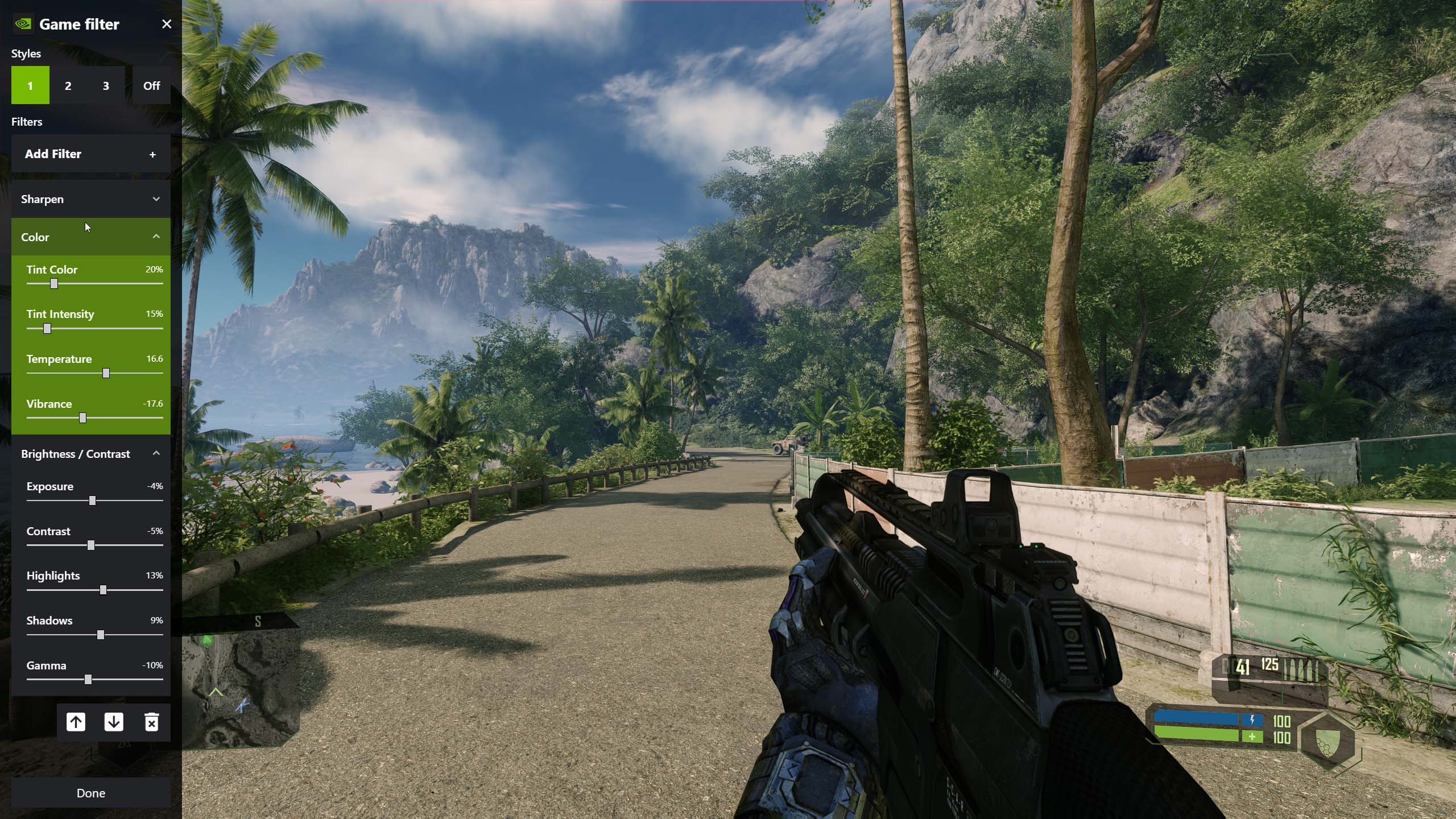 Crysis Remastered - How to Improve Image Quality on Geforce Experience in Game - Color settings - 89E175B