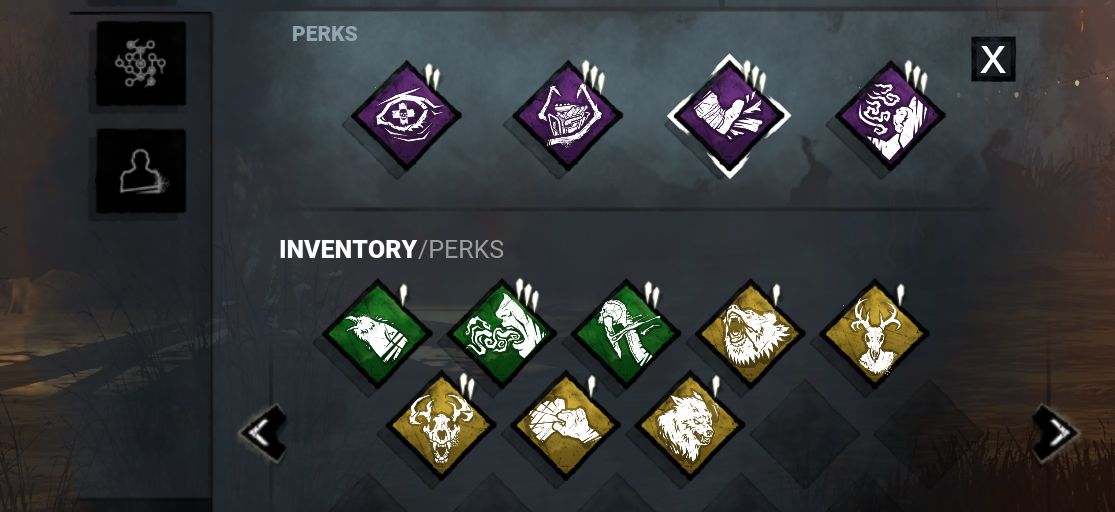 Dead by Daylight - Quality of Life Inventory Guide + Perks-Items & Add On - Remove all selected Perks - 08C7301