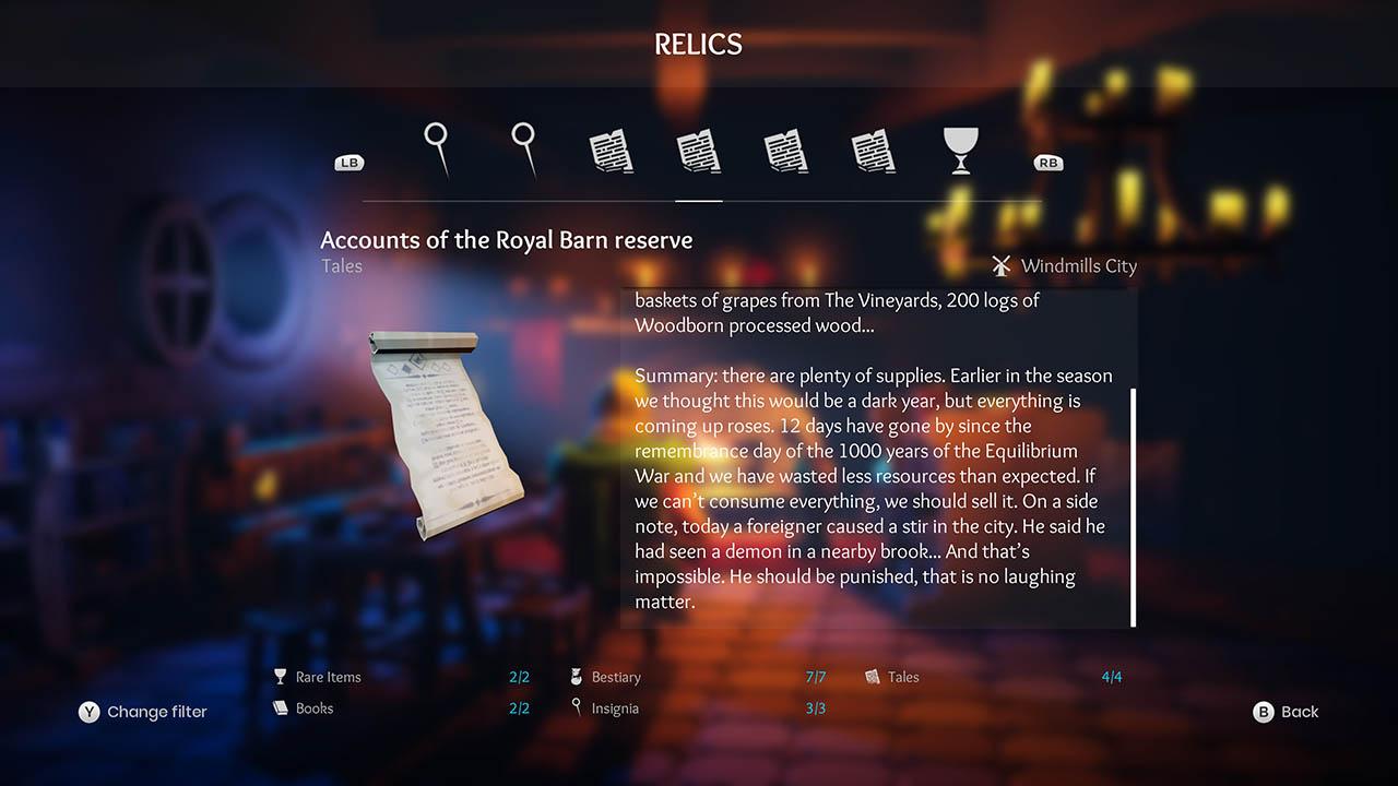 Effie - All Relics & All Achievements - Walkthrough - Addendum: Relic Texts - 041F97B