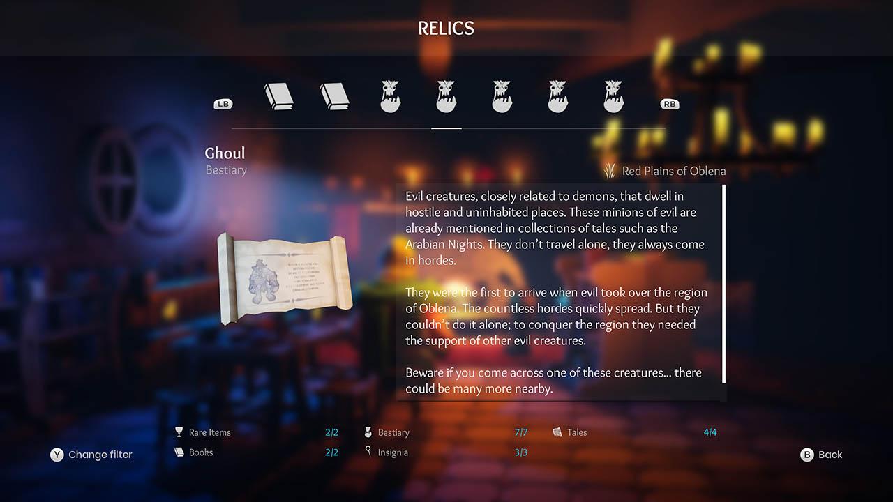Effie - All Relics & All Achievements - Walkthrough - Addendum: Relic Texts - 1981638