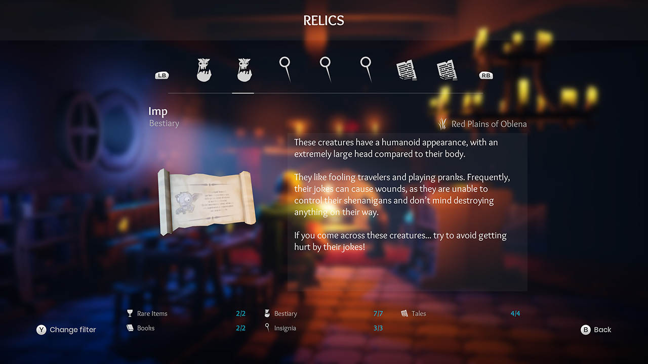 Effie - All Relics & All Achievements - Walkthrough - Addendum: Relic Texts - 24040BE
