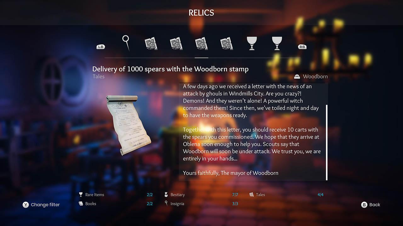 Effie - All Relics & All Achievements - Walkthrough - Addendum: Relic Texts - 2424468