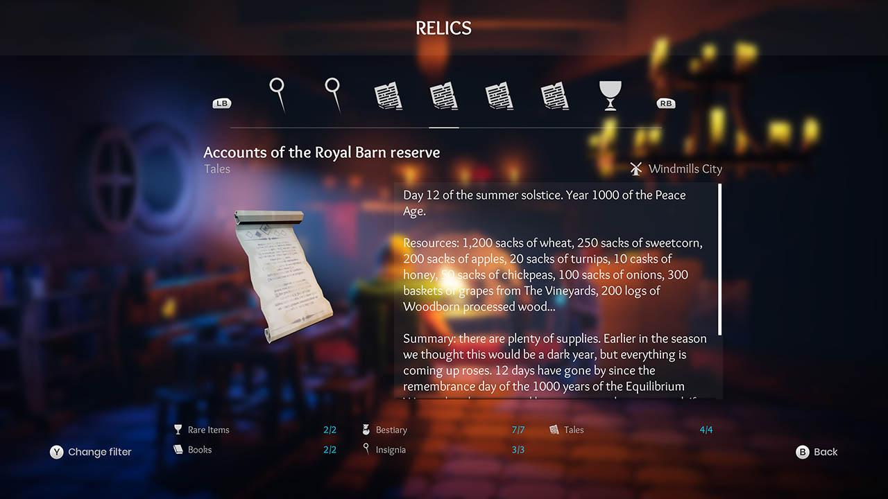 Effie - All Relics & All Achievements - Walkthrough - Addendum: Relic Texts - 2FBFBBE
