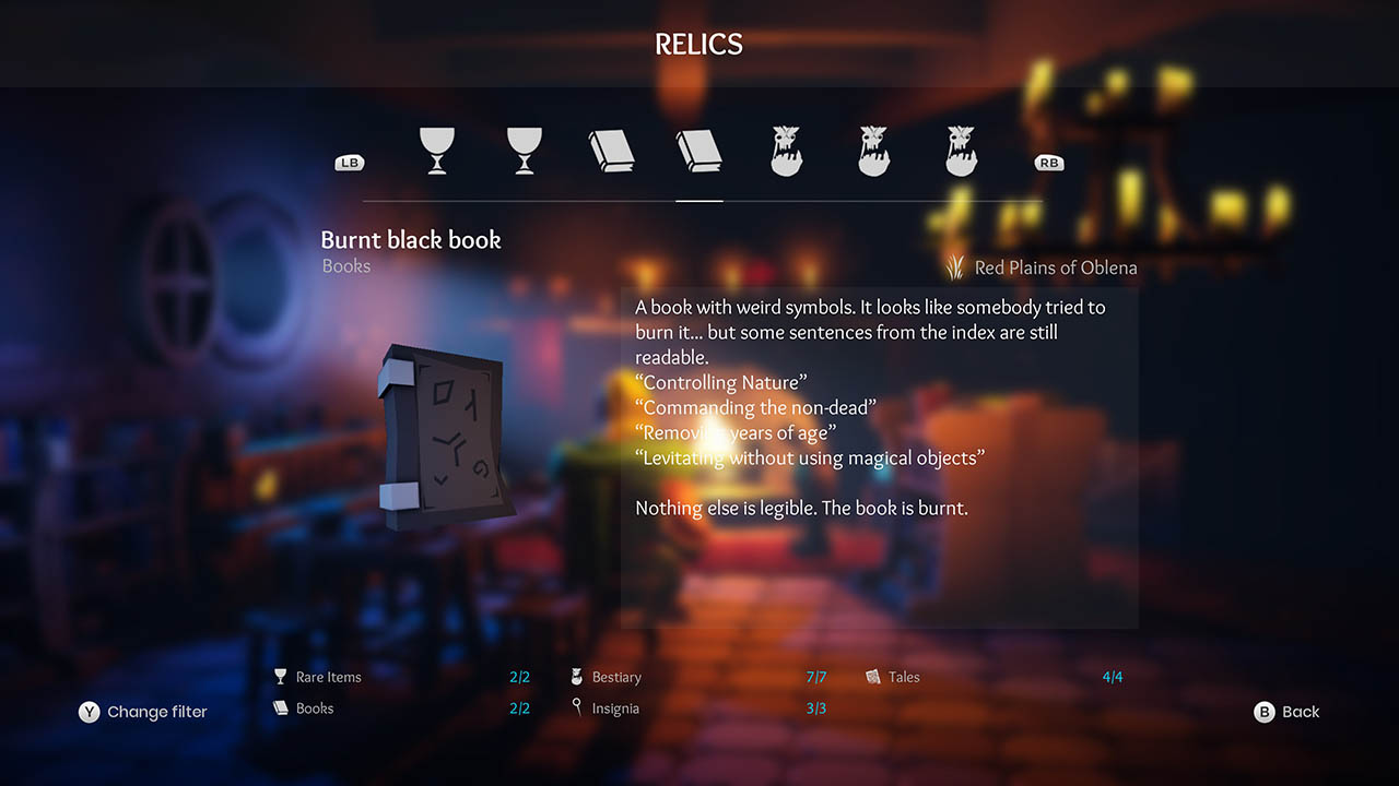 Effie - All Relics & All Achievements - Walkthrough - Addendum: Relic Texts - 48068F8