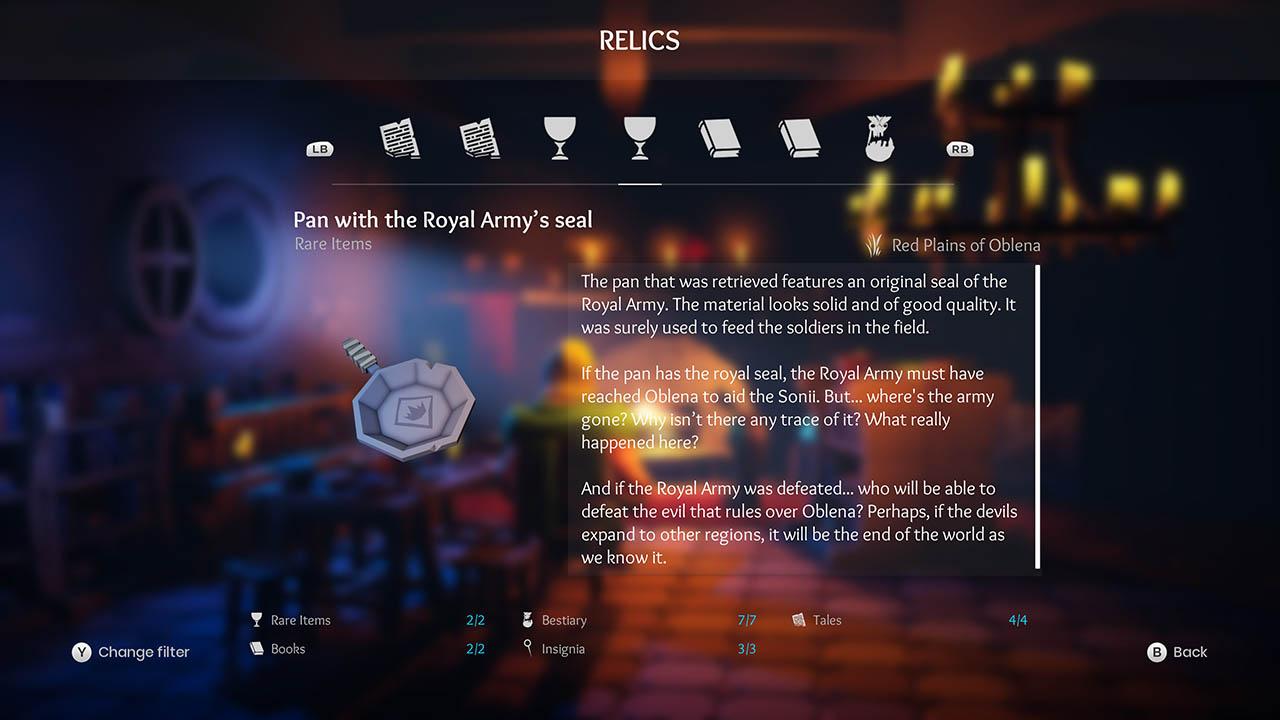 Effie - All Relics & All Achievements - Walkthrough - Addendum: Relic Texts - 577E646