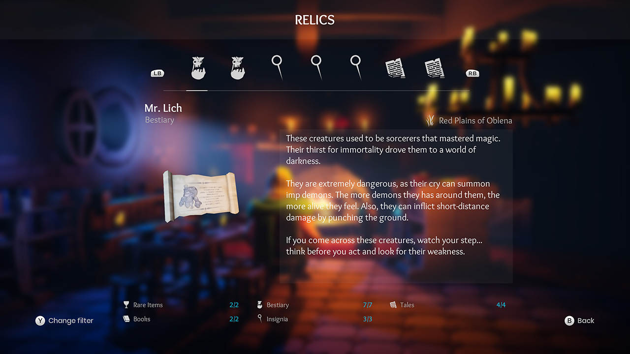 Effie - All Relics & All Achievements - Walkthrough - Addendum: Relic Texts - 76E0A38