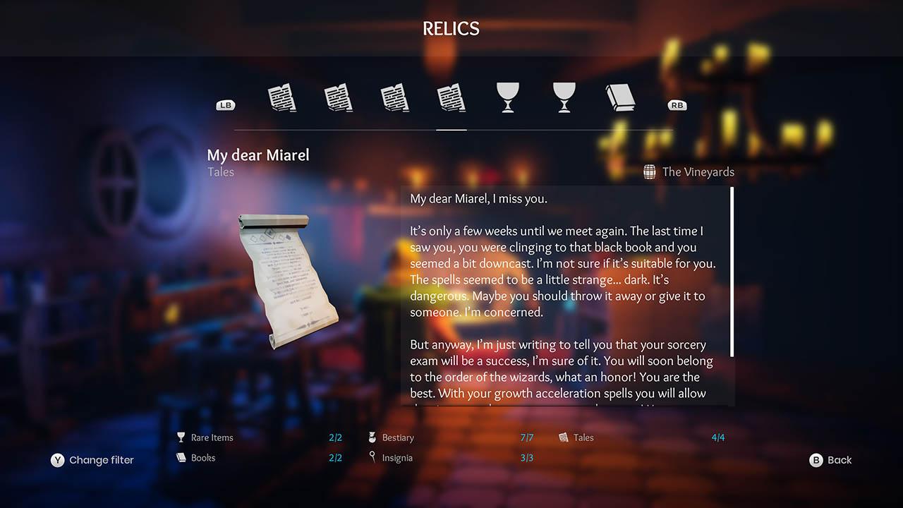 Effie - All Relics & All Achievements - Walkthrough - Addendum: Relic Texts - 8E40185