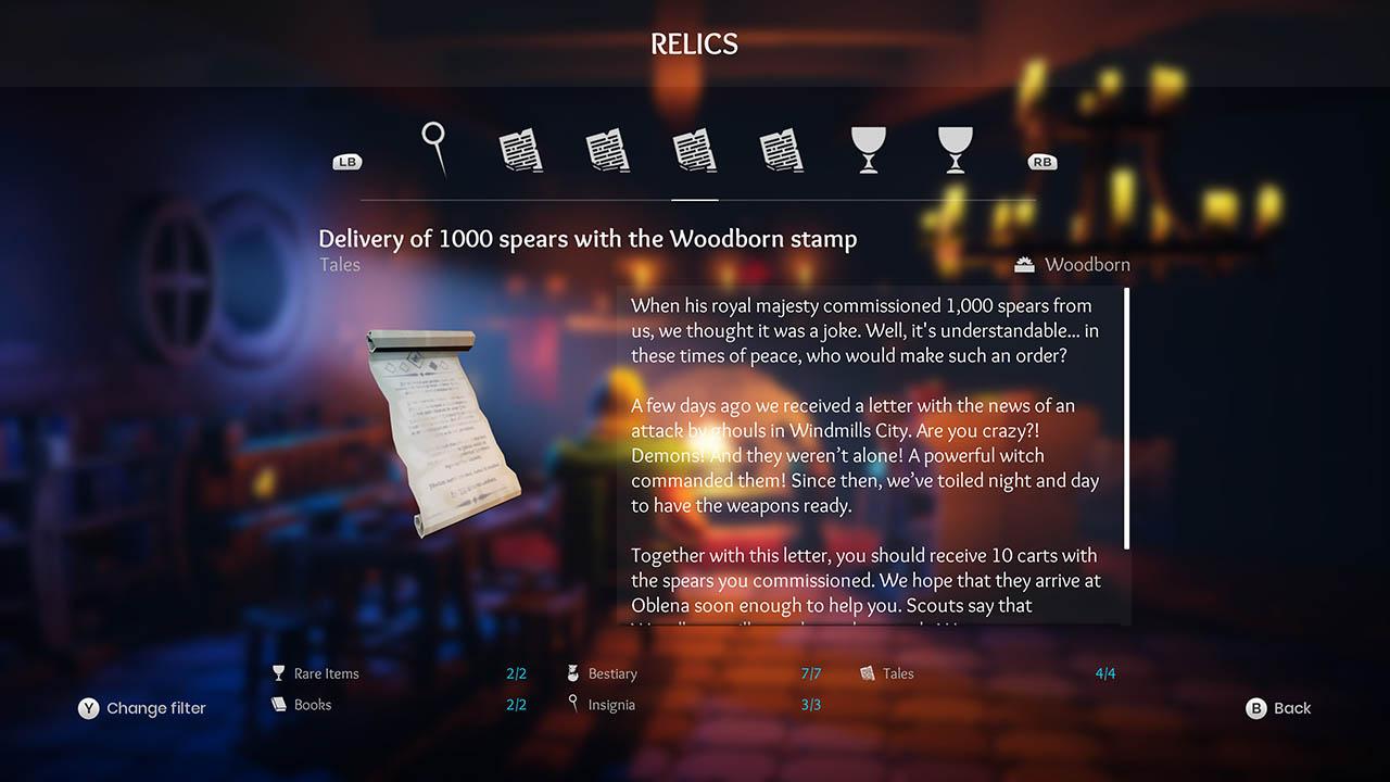 Effie - All Relics & All Achievements - Walkthrough - Addendum: Relic Texts - E4B8986