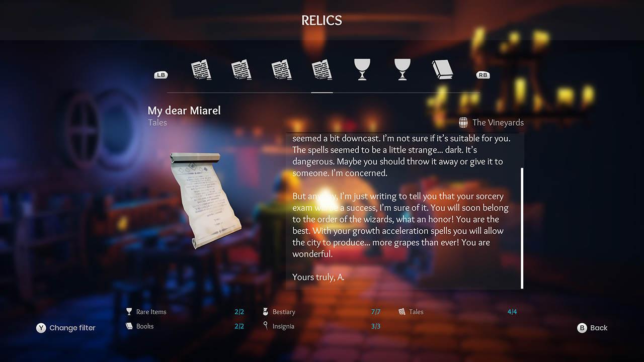 Effie - All Relics & All Achievements - Walkthrough - Addendum: Relic Texts - E735EA7