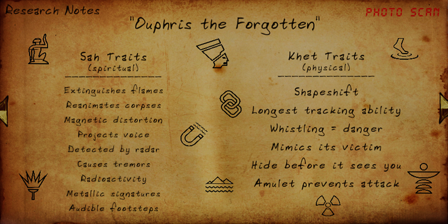 FOREWARNED - General Guide for Mejai Evidence types and Powers - Ouphris the Forgotten - 7FFA2A0