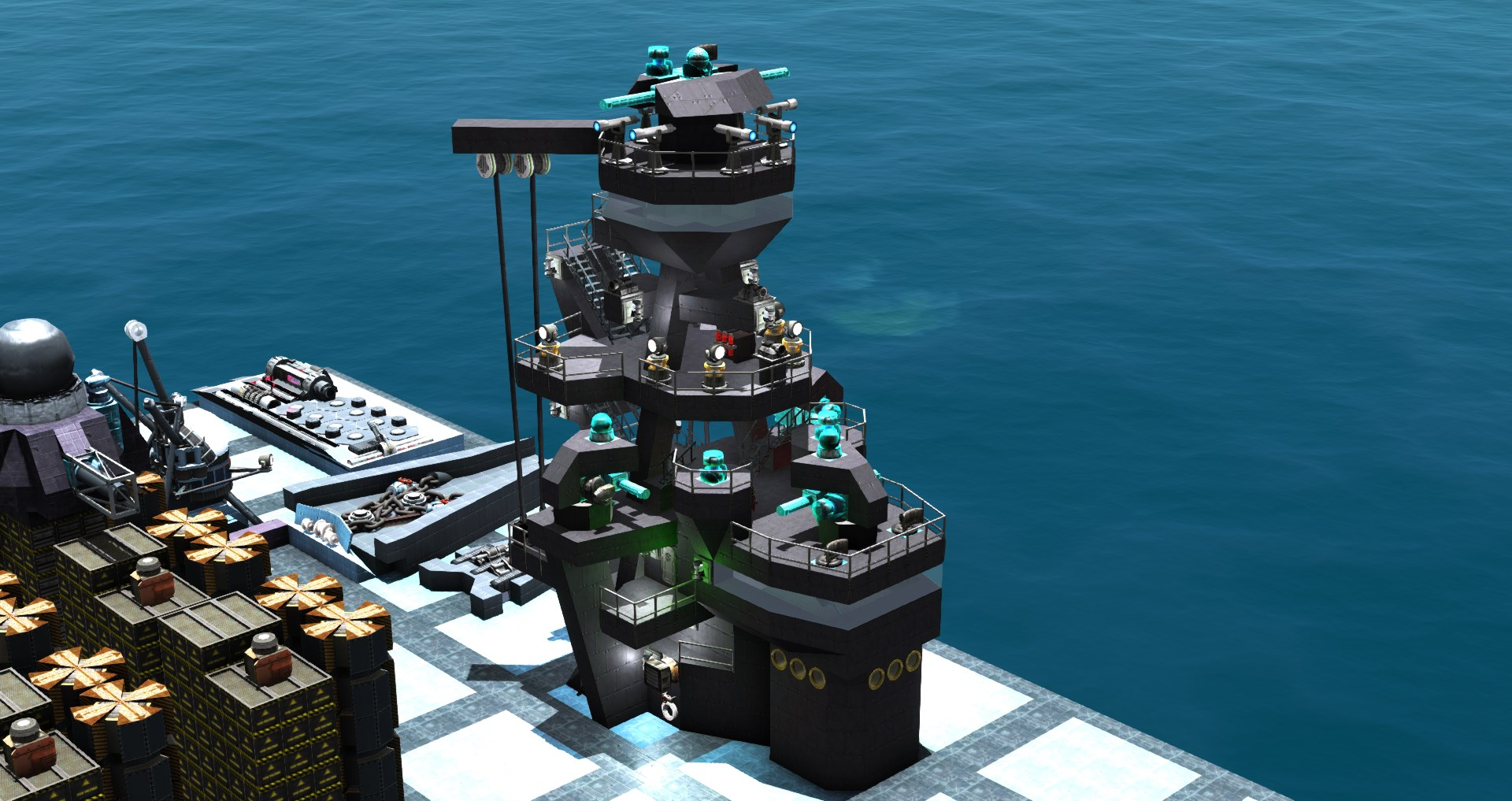 From The Depths - How to build Pagoda Masts and Superstructures - What we can also learn from 3d artists - 4987EA6