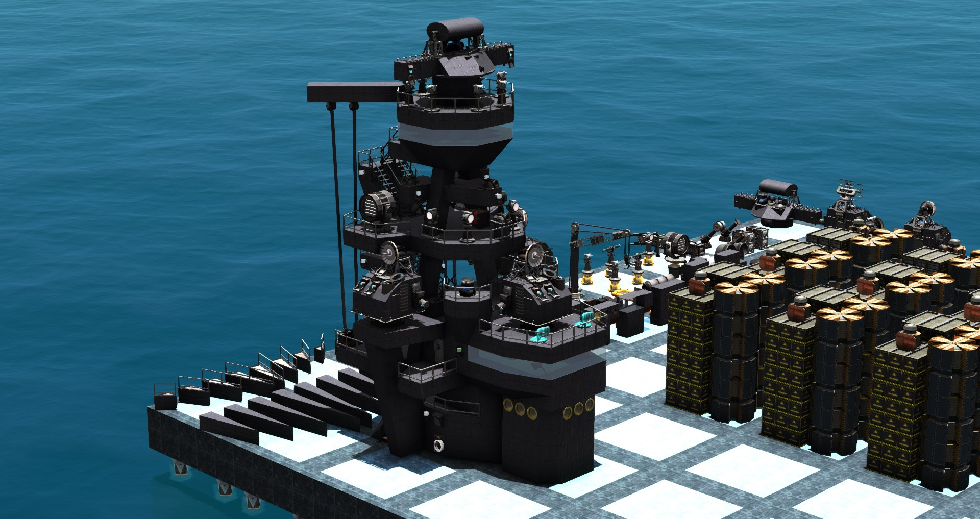 From The Depths - How to build Pagoda Masts and Superstructures - What we can also learn from 3d artists - 5F93D7E